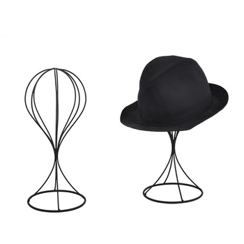 Metal Wire Fedora Single Hat Display Rack Tabletop Hat Stand