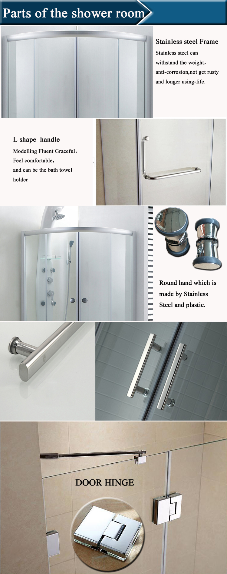 HS SR817 Bathtub Size Shower Enclosures/ Bathroom Shower Enclosure With  Seat/ Quarter Round