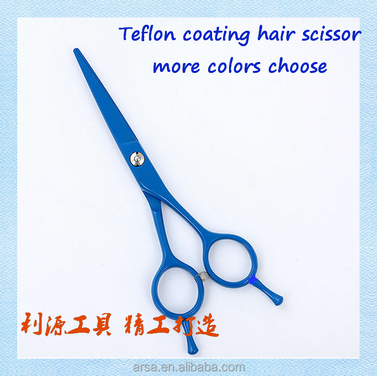 Teflon coating hair scissor more colors choose baber scissors high quality shears