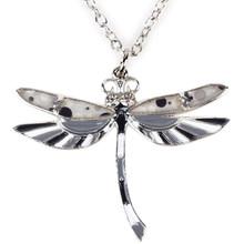 Ожерелье Bonsny Dragonfly, эмалированная подвеска, пластина из сплава цинка, новинка 2016, модные украшения для женщин, эффектные аксессуары для воро...(Китай)