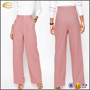 custom lovely luster various kinds of Ecoach Wholesale Fashion Pink Plus Size Casual Wide Leg Pants In Linen  Women Linen Trousers - Buy Women Fashion Linen Pants,Plus Size Casual ...