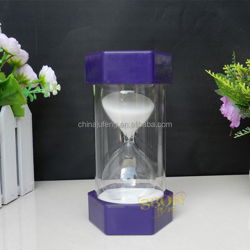 Plastic hexigon large hour glass sand timer