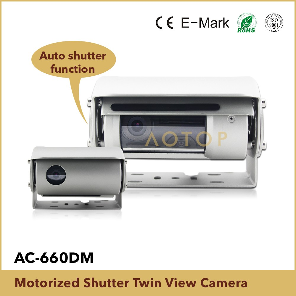 Dual auto shutter HD sony 800TV lines camera for dusty farm trucks, car reversing ccd camera with double lens