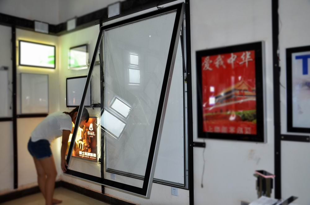 edgelight af50a simple face led ext rieur panneau publicitaire extrud en aluminium cadre de. Black Bedroom Furniture Sets. Home Design Ideas