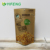 Large Lunch Menu Tea Pouch Ziplock Material Kraft Paper Window Bags With Zipper Foil Lined