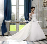 white formal long sleeve ball gown lace long train indian western wedding dress