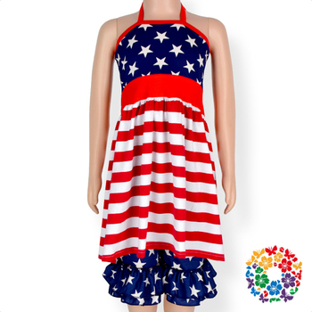 e6f728cc02679 4th Of July Two Piece Baby Clothing Sets Red White Stripe And Blue Star  Patriotic Day