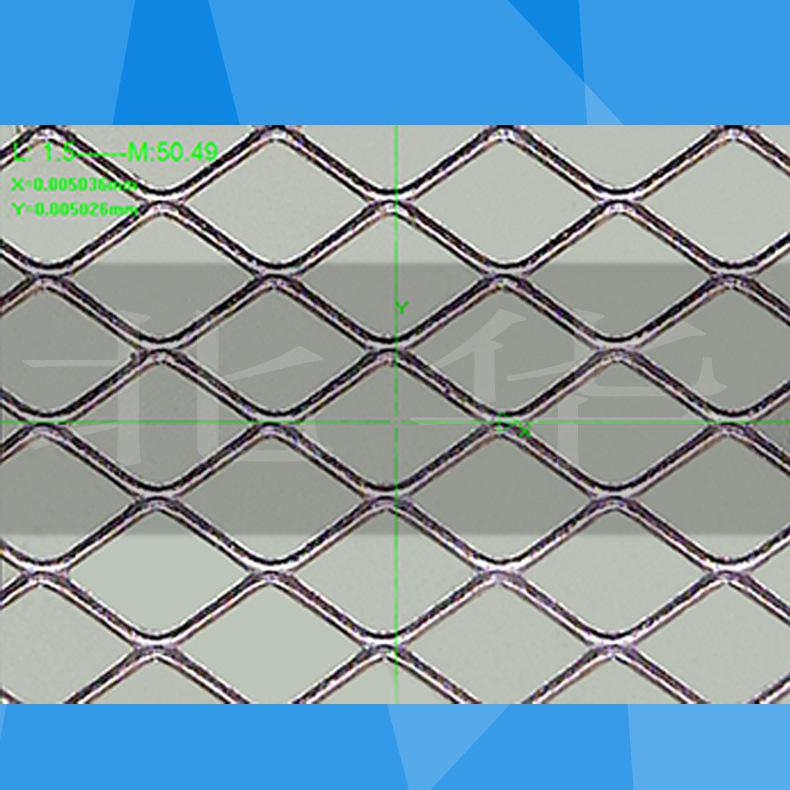 Small hole diamond shaped titanium precision expanded metal mesh foils for battery