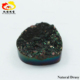 Factory price black color round shaped drusy agate