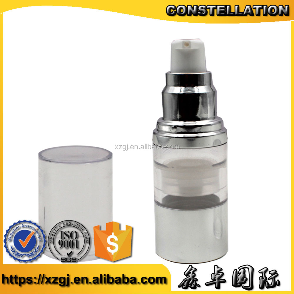 HOT SALE beautiful Cosmetic Packaging glass airless Serum Pump Bottles With ISO,Factory Price,Free Sample