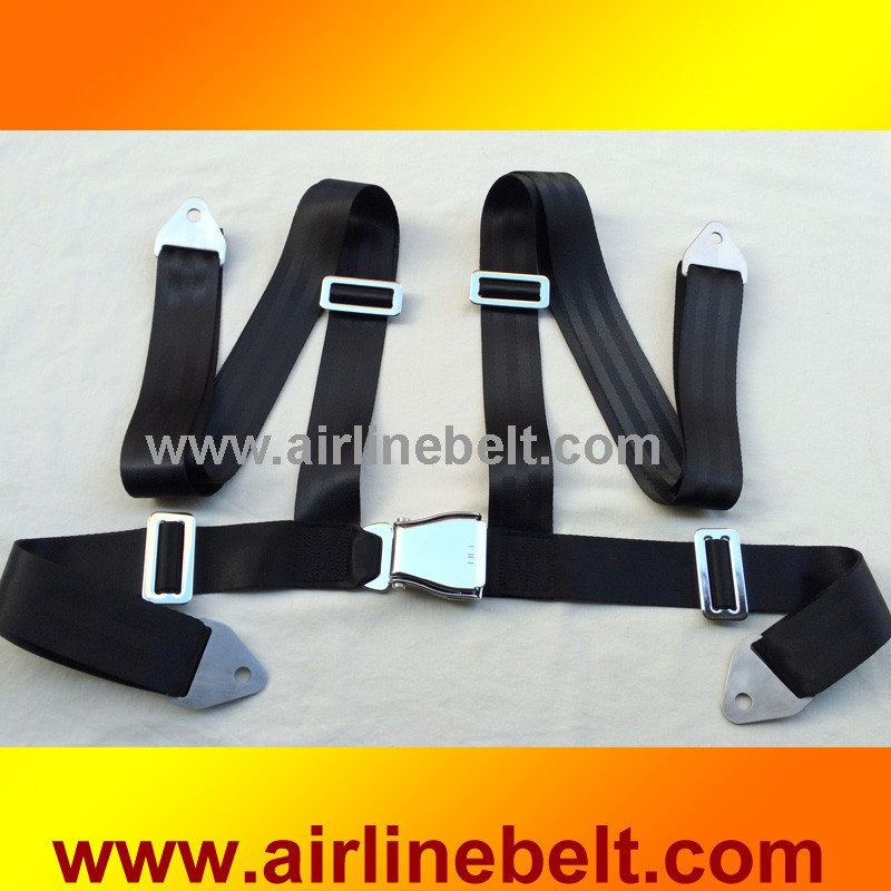 Full Stainless Steel Airplane Aircraft Buckle 4 Point Seat Safety ...