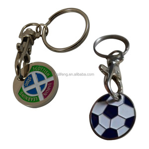 Custom Metal Shopping Trolley Coin Keyring