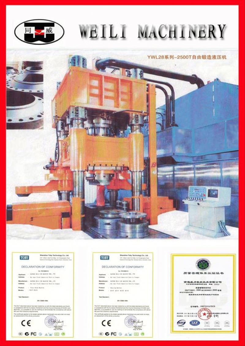 WEILI MACHINERY Top Quality Four Column ceramic tiles hydraulic press