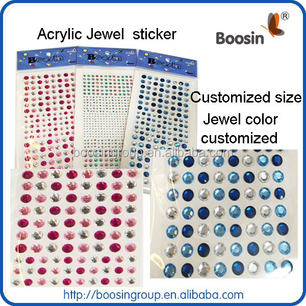 jewel stckers for face, body,hair,bag,paper,glass