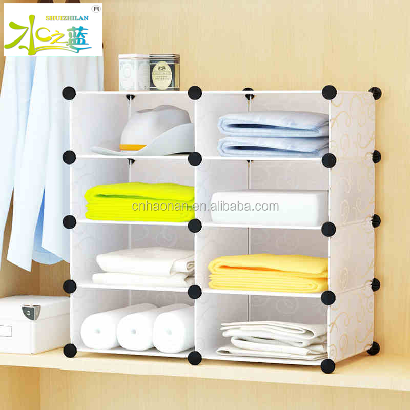 Bedroom furniture wardrobe storage cabinet plastic