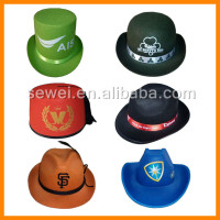 Wholesale promotional custom logo band Non-woven straw werstern cowboy hats summer mens straw cowboy hat
