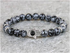 Snow Stone Bracelet,Fatima Hand Buddha Bracelet Jewelry for Men
