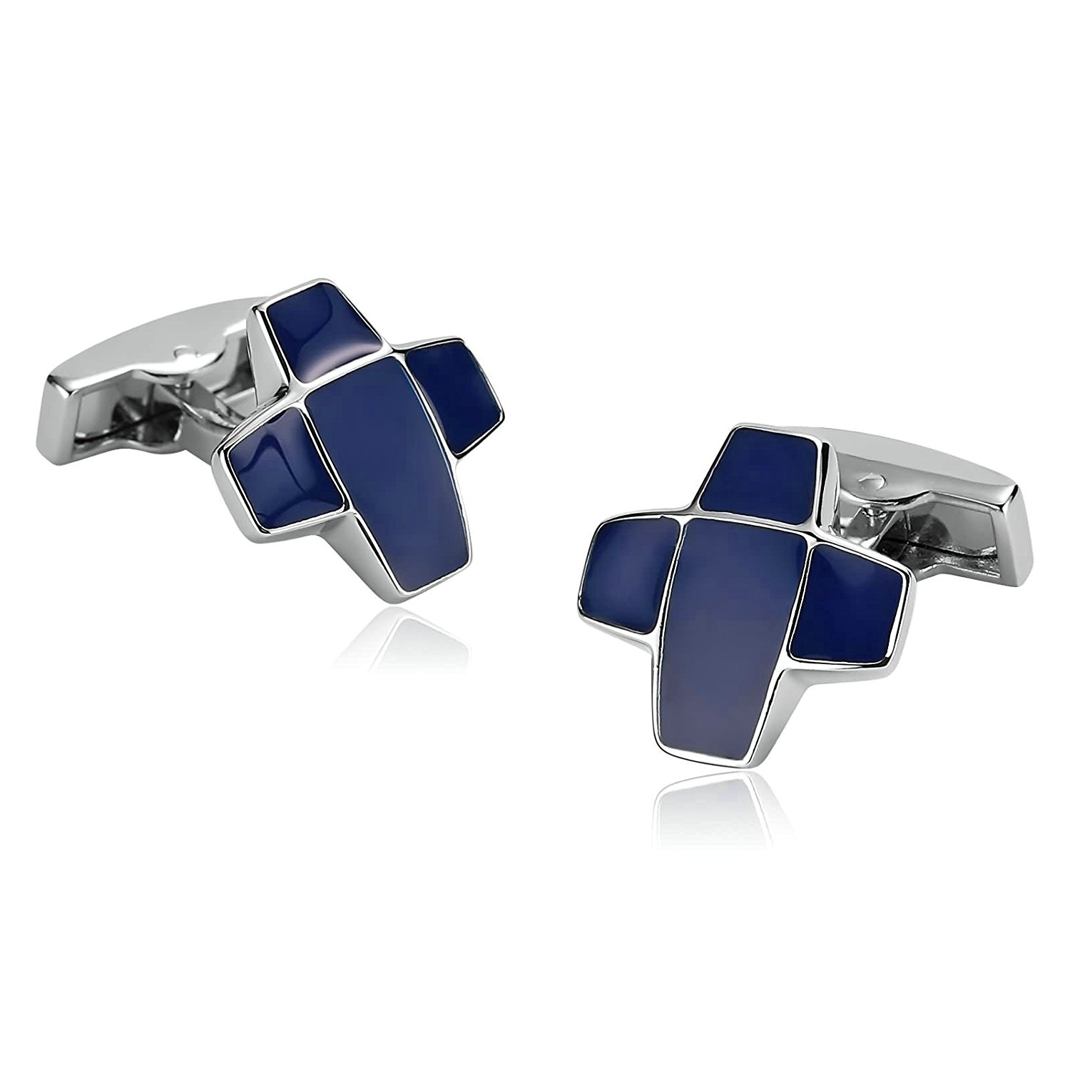 Aooaz [4 Styles] Men Stainless Steel Cufflinks 2PCS, Novelty Shirt Cufflinks Suit Business, With Gift Box