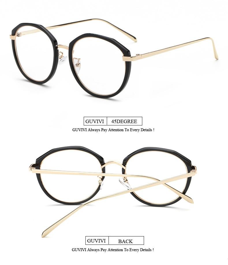Large Frame Non Prescription Glasses : 2016 Women Eyeglasses Large Metal Optical Frame Clear ...