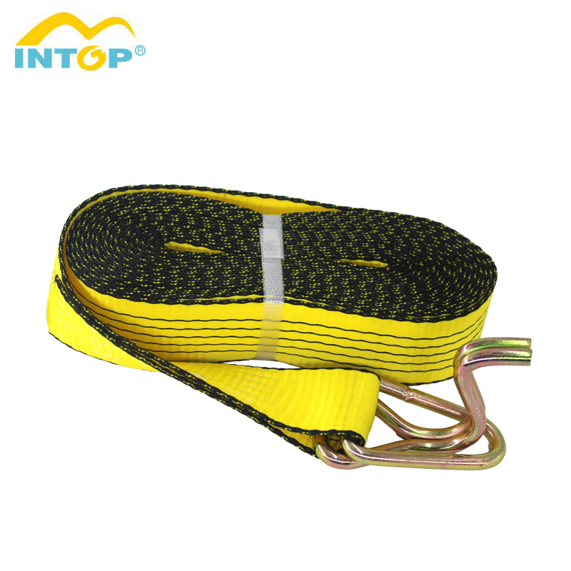 100% Heavy Duty Polyester 50mm Tie Down Ratchet Cargo Sjorren Bandjes Riem Made In China