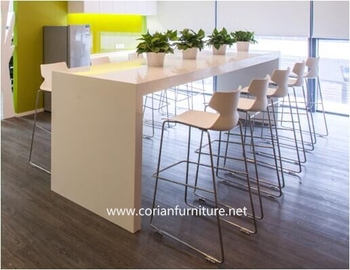 Incroyable Solid Surface Restaurant Bar High Bar Table