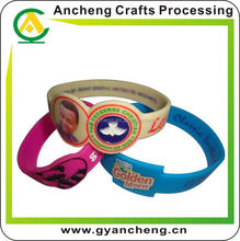colourful 24hours wristbands camo bracelet for promotion