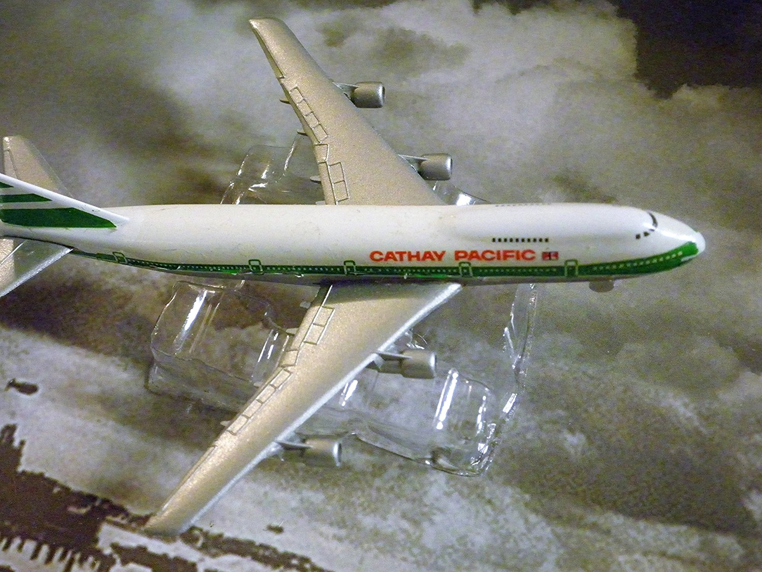Cathay Pacific Hong Kong Airline 747-200 Jet Plane 1:600 Scale Die-cast Plane Made in Germany by Schabak