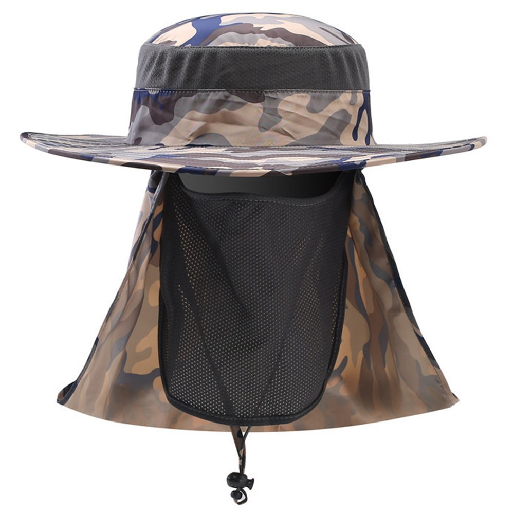 Outdoor Wide Brim 360° Sun Protection Search Fishing Cap Neck Face Flap Hat