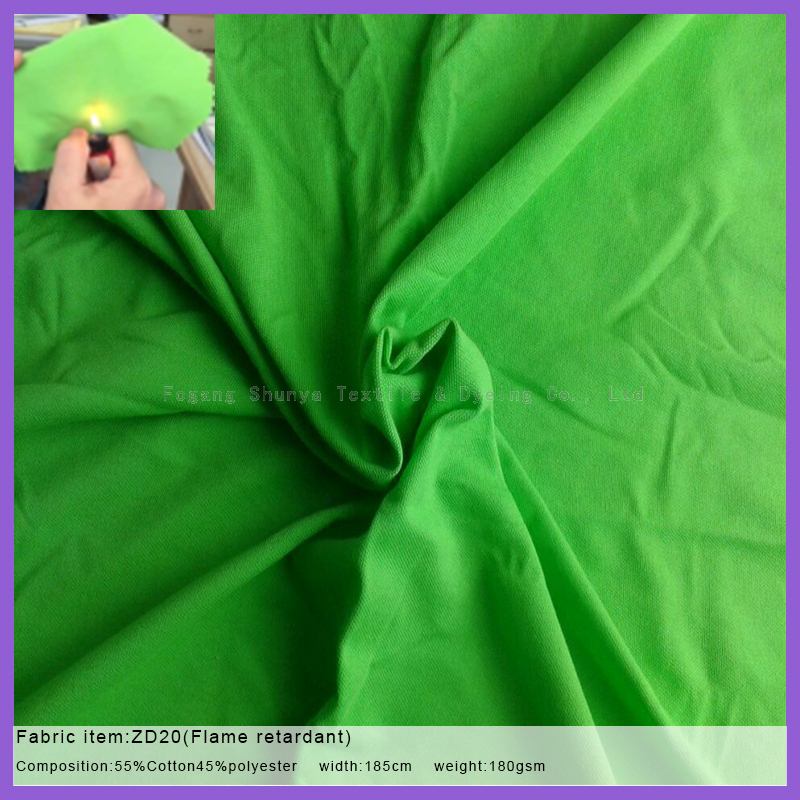 Flame retardant function pique fabric for sportswear or polo-shirt
