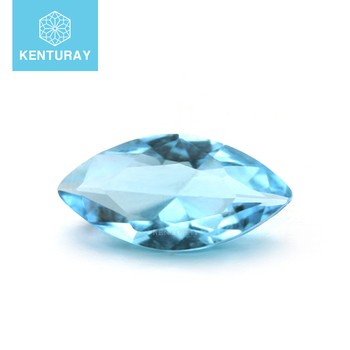Best Quality Light Blue Mariquise Gemstone Jewelry Making Glass Stone