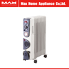 Portable homeuse electric oil heater with turbo fan