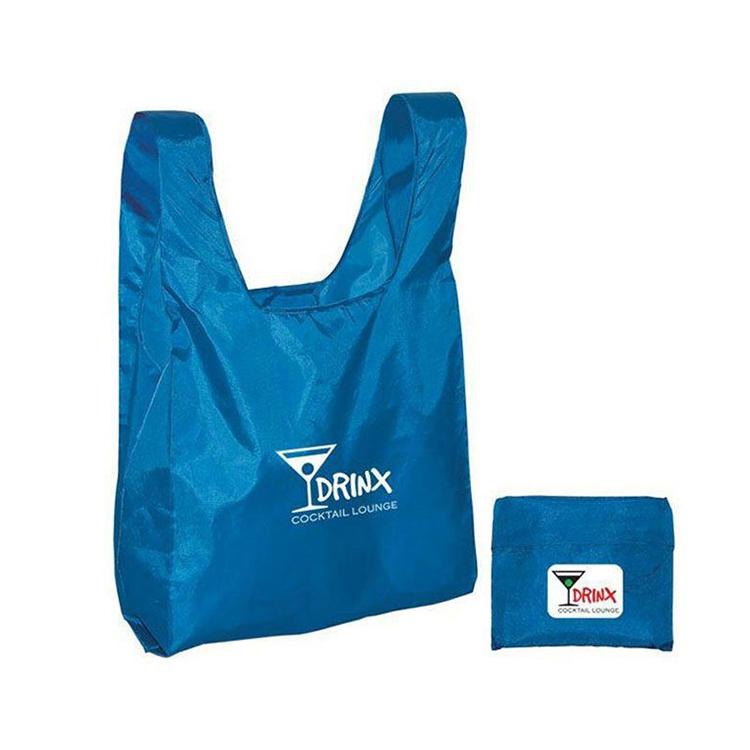 Factory wholesale cheap customized foldable shopping bag, Custom Logo Printed foldable Polyester bag