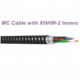 MC Cable with XHHW-2 Inners PVC Jacket Aluminum Alloy Interlocked Armor Cable