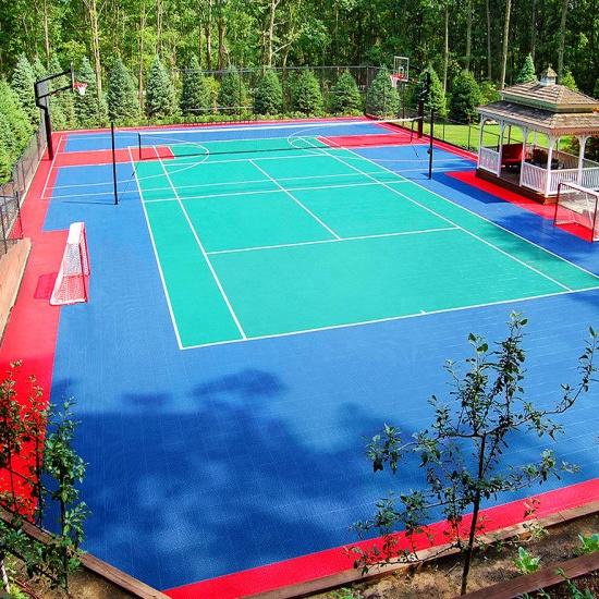Indoor en outdoor sportvelden opgeschort vloer voor basketbal vloeren
