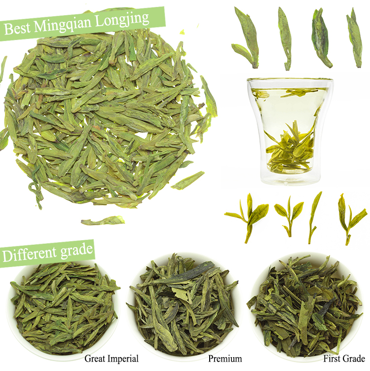 Freeze Dried Organic Loose Leaf Tea Fat Burning Green Longjing Tea