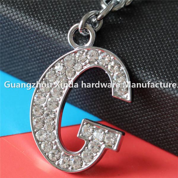 Beautiful Diamond Letters Key Chain Keyring .b Design Crystal ...