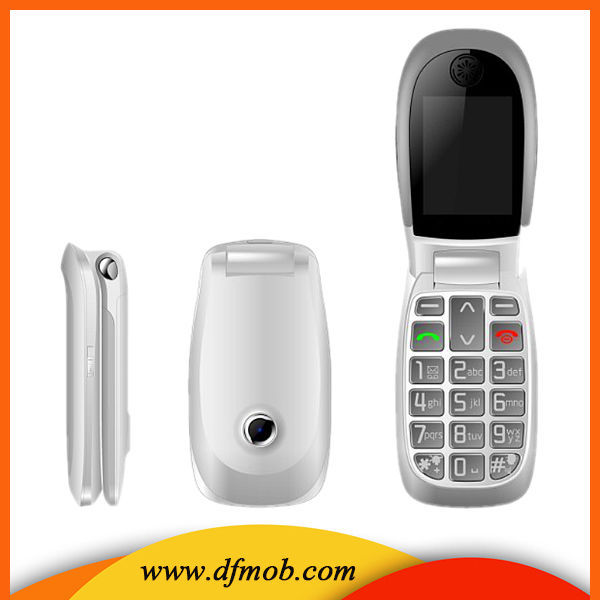 2.2 inch Big Font Big Keyboard Wap Gprs MTK6260 Gsm Quad Band FM SOS Unlocked GSM Flip Senior Phone T03