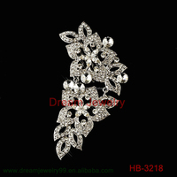 New fashion silver simplicity metal stick hair comb hair jewelry accessories for women