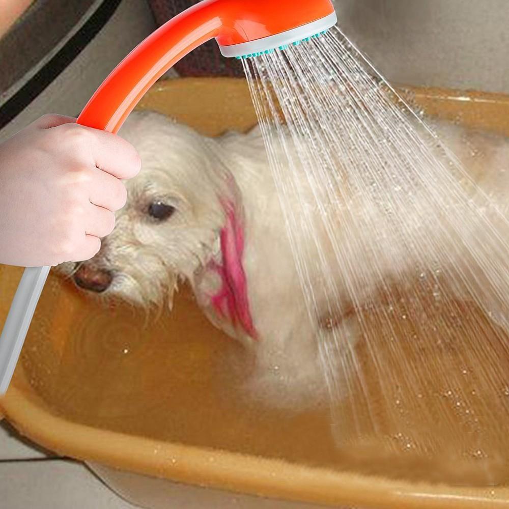 Handhold Pet Shower Head Sprayer Washer Dogs Bath Water Spray Hand