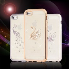 4.7 Inch Soft TPU Jeweled Cell Phone Cases For Iphone