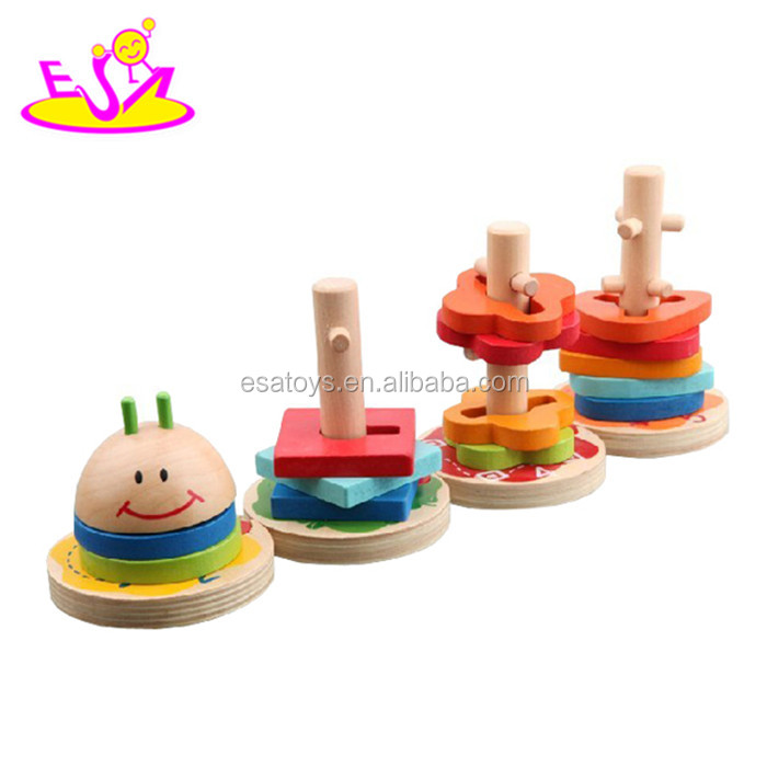 4f7b9d8431b5 Colorful Wooden Building Blocks Toy