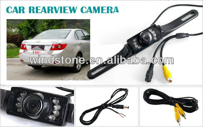 Rear View Parking Sensor System 3.5 inch TFT Monitor with Camera