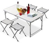 Tianye Aluminum Camping Portable Folding Camp Outdoor Indoor Garden Beach Sports Picnic Fold Up Desk Table