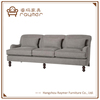 84 Inch Beaumont Classic English Rolled Arm Grey Linen Sofa
