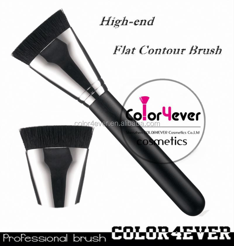 Wholesale hot sell 163 flat contour makeup brush with copper natural hair professional