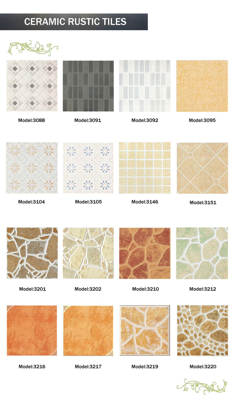 China New Design Size 30x30 Floor Tiles Bathroom Ceramic