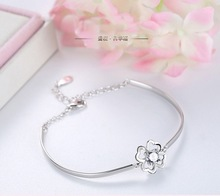 New Fashion 절묘한 Classical Chain Bracelet 네 잎 Clover <span class=keywords><strong>보석</strong></span> 925 Silver Bracelet