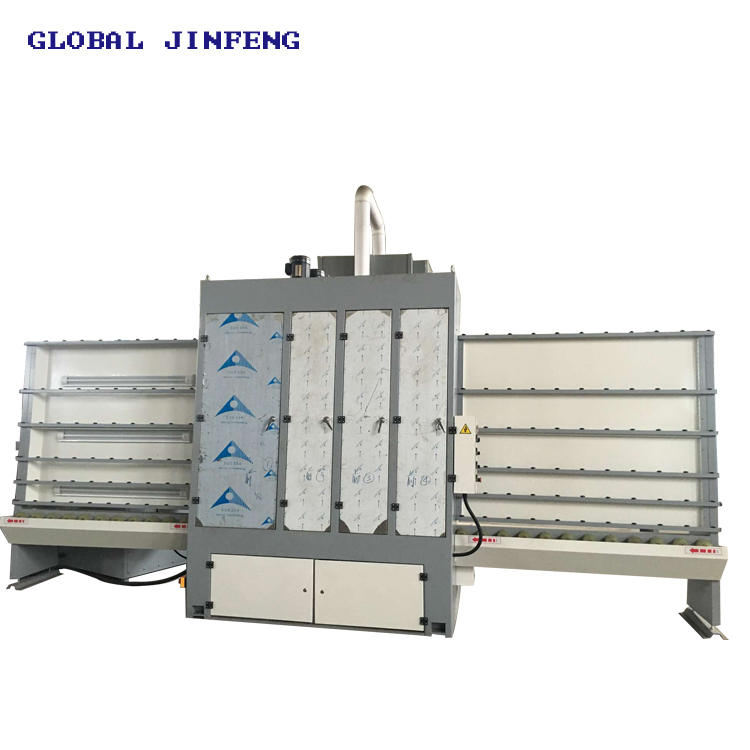 JFV-1600 Vertical insulating glass washing and drying machine price with CE