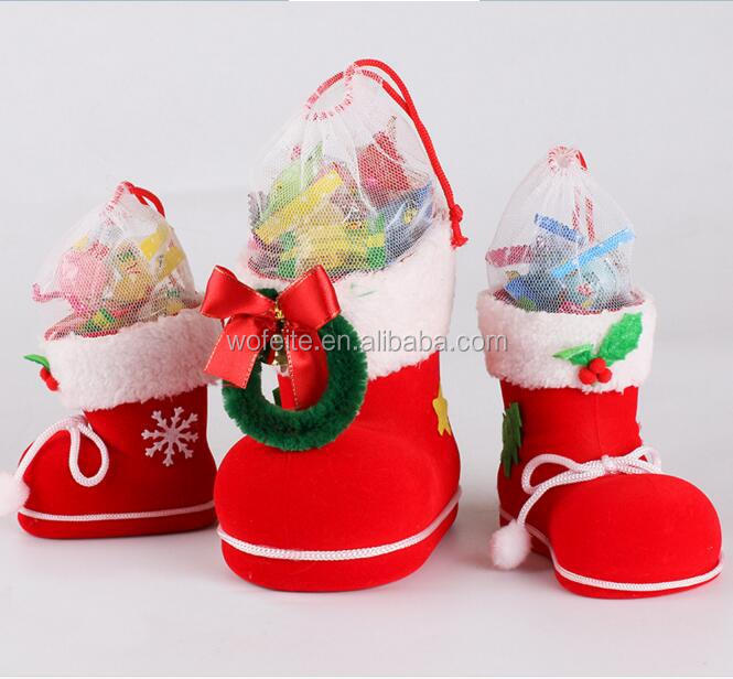 2017christmas decorations Christmas gift boots Christmas stockings