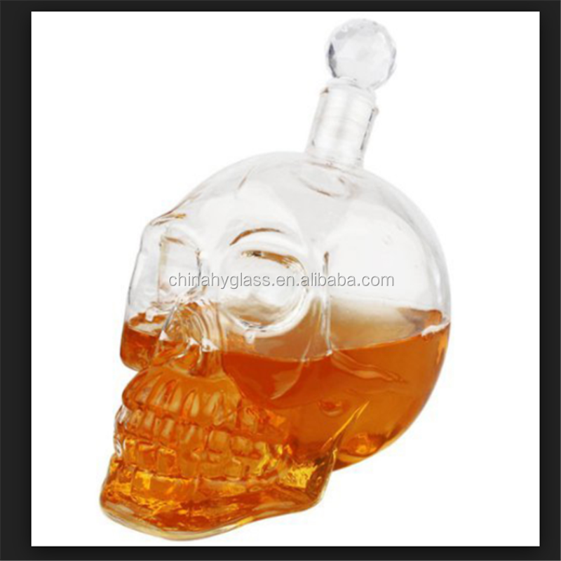 popular skull glass decanter